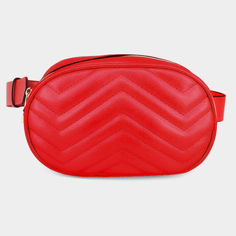 BITZ BELT BAG FANNY PACK - RED