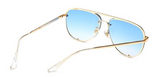 BITZ FALL OVERSIZED AVIATOR SUNGLASSES - BLUE