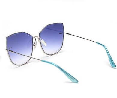 BITZ OVERSIZED OMBRÉ STATEMENT SUNNIES SUNGLASSES  BLUE - IN STOCK!