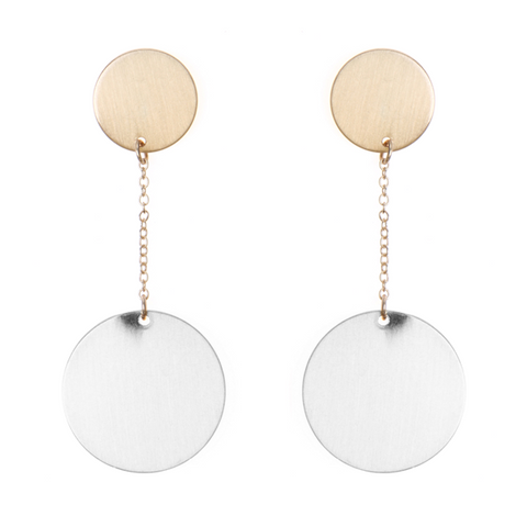 GEOMETRIC DELICATE  DROP EARRING