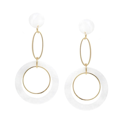 BITZ SKINNY HOOP DOUBLE DROP EARRING