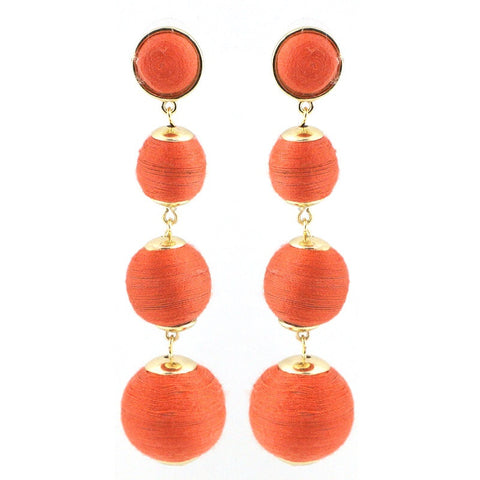 BON DROP EARRING - 4 DROP CORAL