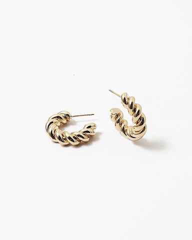 BITZ NEW! TWISTED PETITE SHINY HOOP EARRING