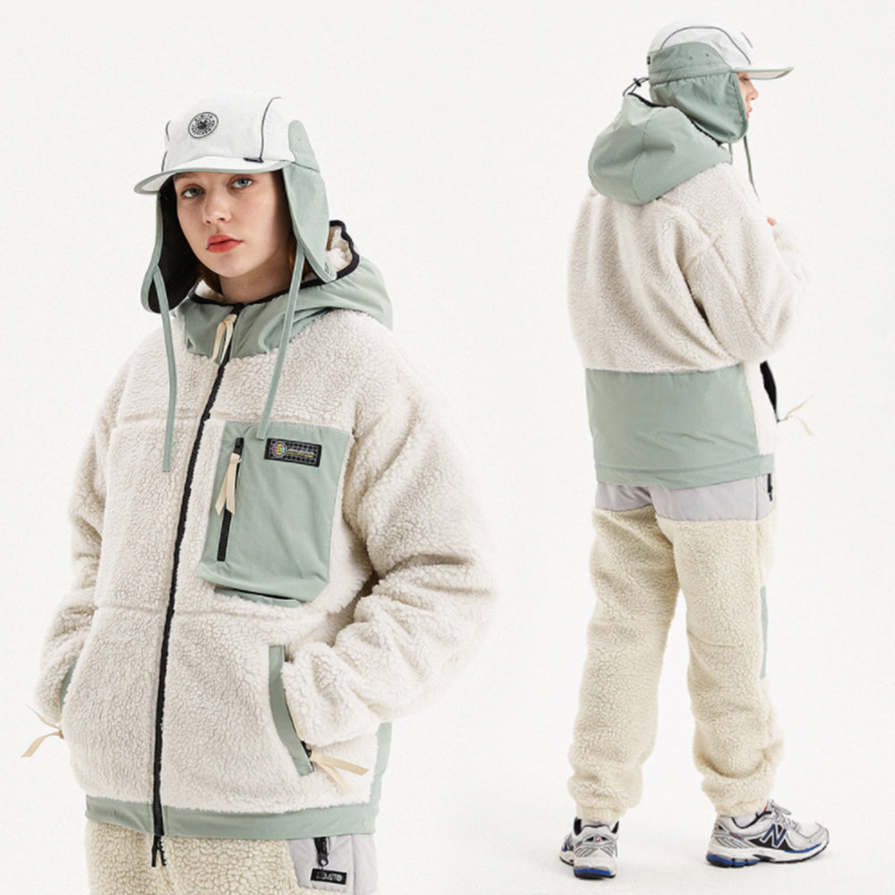 DIMITO RAVIN REVERSIBLE FLEECE ZIP JACKET-IVORY_image1