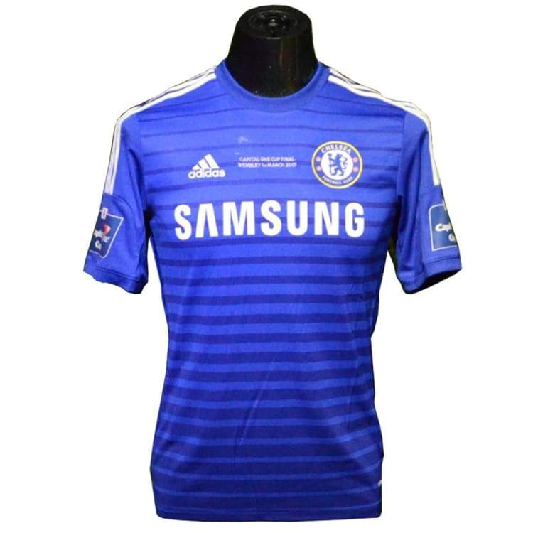 newest 3f33e 19d76 Adidas 14/15 Chelsea Capital One Cup Final Home Jersey S/S G92151