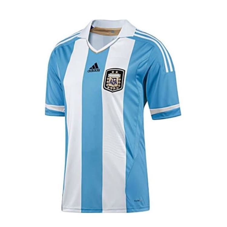 optcool.comAdidas 2011 National Team Argentina (H) S/S V32111adidas / 2XL / White/Blue