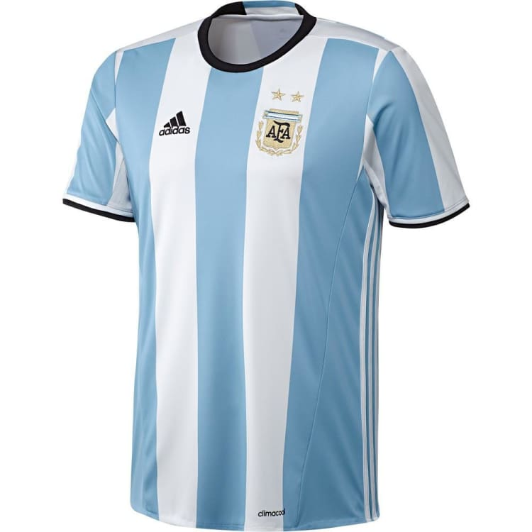 optcool.comAdidas 2016 National Team Argentina (H) S/S Jersey AH5144adidas / XL / White/Blue