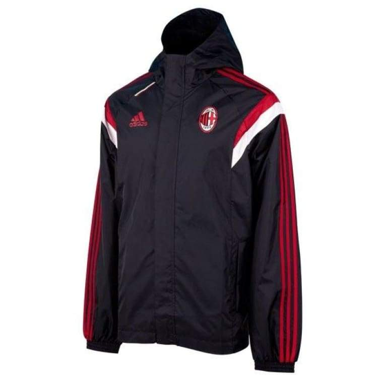 Jackets / Track: Adidas Ac Milan 14/15 All Weather Jacket F83757 - Adidas / Black / L / 1415 Ac Milan Adidas Black Clothing |