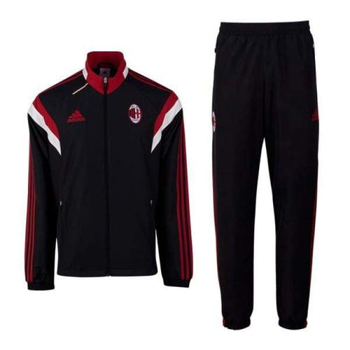 Tracksuit: Adidas Ac Milan 14/15 Pre Suit F83747 Blk/rd/wht - Adidas / M / Black / 1415 Ac Milan Adidas Black Clothing |