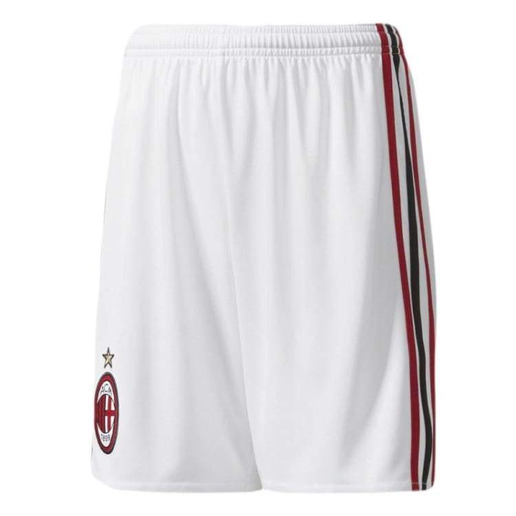Shorts / Soccer: Adidas Ac Milan 17/18 (H/a) Mens Shorts Az7062 - Adidas / S / White / 1718 Ac Milan Adidas Away Kit Clothing |