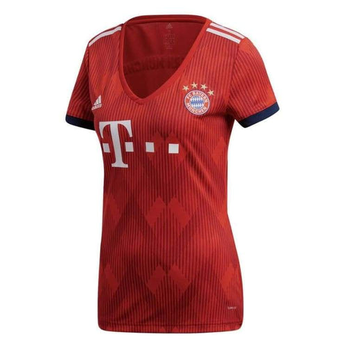 Jerseys / Soccer: Adidas Bayern Munich 18/19 Home Woman S/s Jersey Cf5425 - Adidas / Xs / Red / 1819 Adidas Bayern Munich Clothing Football