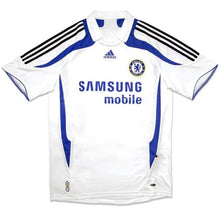 Jerseys / Soccer: Adidas Chelsea 07/08 Uefa (A) S/s Jersey 641371 - M / White / Adidas / Adidas Away Kit Chelsea Clothing Football |