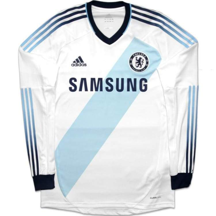 Jerseys / Soccer: Adidas Chelsea 12/13 (A) L/s Jersey W38465 - Adidas / Xl / White / 1213 Adidas Away Kit Chelsea Clothing |