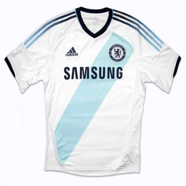Jerseys / Soccer: Adidas Chelsea 12/13 (A) S/s W38465 - Adidas / L / White / 1213 Adidas Away Kit Chelsea Clothing |