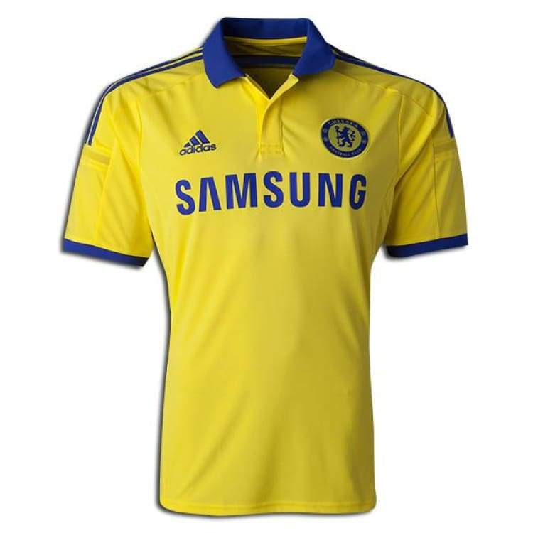 Jerseys / Soccer: Adidas Chelsea 14/15 (A) S/s M37745 - Adidas / S / Yellow / 1415 Adidas Away Kit Chelsea Clothing |