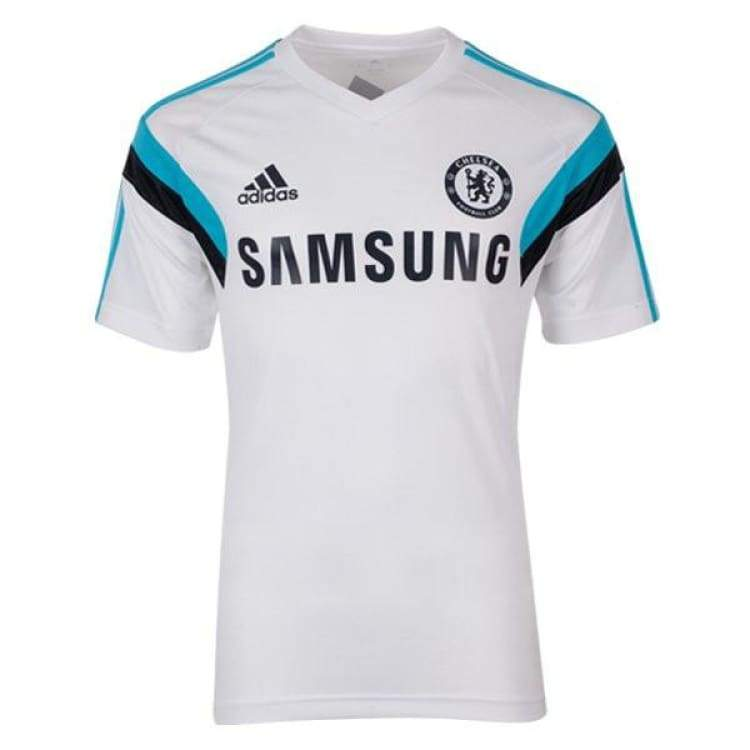 Jerseys / Soccer: Adidas Chelsea 14/15 Training S/s Jersey Wht/bu F84115 - Adidas / L / White / 1415 Adidas Chelsea Clothing Football |