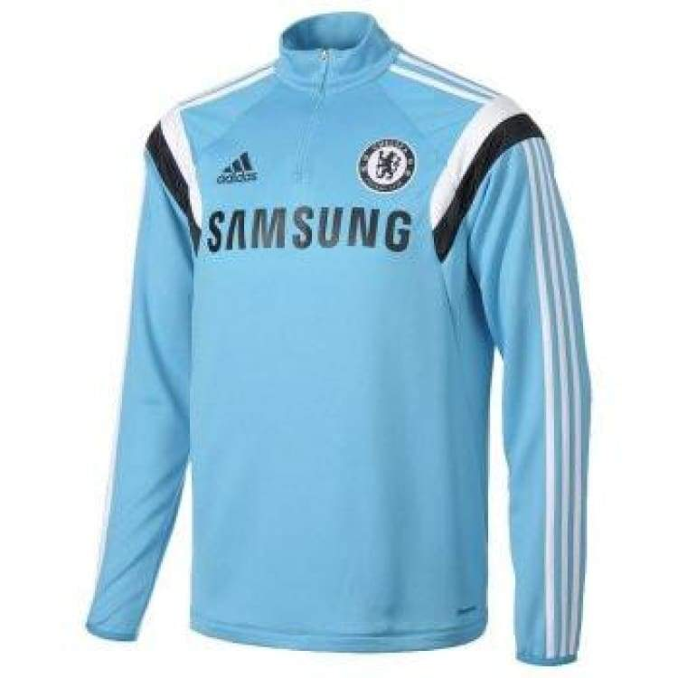 Tops / Warm Up: Adidas Chelsea 14/15 Training Top L/s G90979 - Adidas / M / Blue / 1415 Adidas Blue Chelsea Clothing |