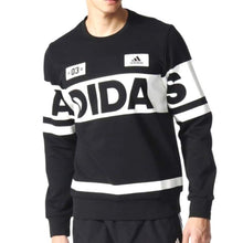 Hoodies & Sweaters: Adidas Crew Linear Sweater Blk Az8359 - Adidas Black Clothing Hoodies & Sweaters Land