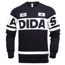 Hoodies & Sweaters: Adidas Crew Linear Sweater Blk Az8359 - Adidas / S / Black / Adidas Black Clothing Hoodies & Sweaters Land |