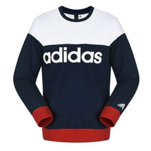 Hoodies & Sweaters: Adidas Crew Logo Sweater Gry-Bk Az8347 - Adidas / S / Navy/white / Adidas Clothing Hoodies & Sweaters Land Lifestyle |