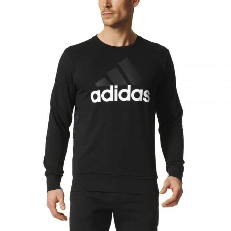Hoodies & Sweaters: Adidas Essentials Linear Sweater S98766 - Adidas / S / Black / Adidas Black Clothing Hoodies & Sweaters Land |