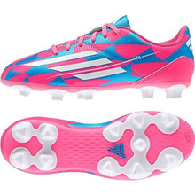 Cleats / Soccer: Adidas F5 Fg Junior M17673 - Adidas Blue/pink Boys Cleats / Soccer Footwear