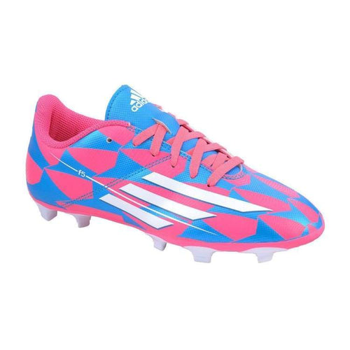 Cleats / Soccer: Adidas F5 Fg Junior M17673 - Adidas / Kids: 3Y / Blue/pink / Adidas Blue/pink Boys Cleats / Soccer Footwear |