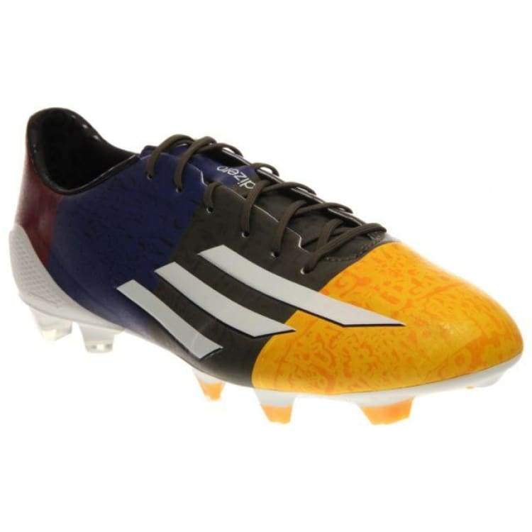 Cleats / Soccer: Adidas F50 Adizero Fg (Messi) Oj/ Wht/grn M21777 - Adidas / Uk: 7.5 / Multi / Adidas Cleats / Soccer Footwear Land Mens |