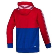 Hoodies & Sweaters: Adidas Fc Bayern 14/15 Authentic Fz Hoody M30958 - 1415 Adidas Bayern Munich Blue/red Clothing