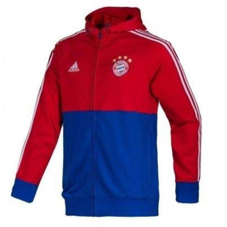 Hoodies & Sweaters: Adidas Fc Bayern 14/15 Authentic Fz Hoody M30958 - Adidas / S / Blue/red / 1415 Adidas Bayern Munich Blue/red Clothing |