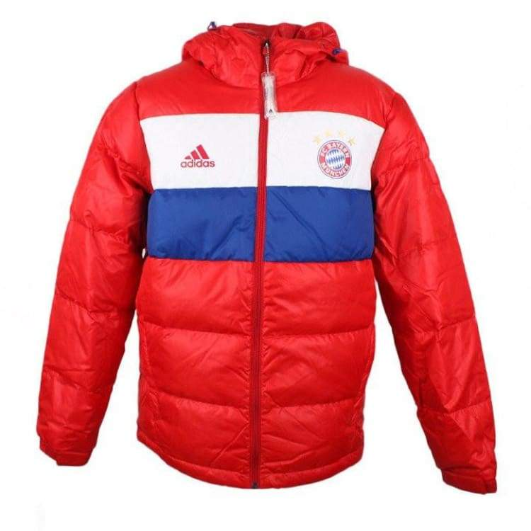 Jackets / Down & Insulated: Adidas Fc Bayern 14/15 Down Jacket M30955 - Adidas / Xl / Red / 1415 Adidas Bayern Munich Clothing Jackets |