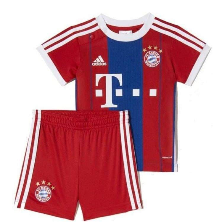 Jerseys / Soccer: Adidas Fc Bayern 14/15 (H) S/s Baby Set F48528 - Adidas / Month: 6-9 / Blue/red / 1415 Adidas Bayern Munich Blue/red Boys