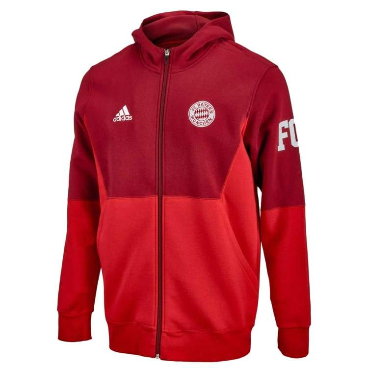 Hoodies & Sweaters: Adidas Fc Bayern 15/16 Full Zip Hoodie Aa6851 - Adidas / S / Red / 1516 Adidas Bayern Munich Clothing Hoodies & Sweaters