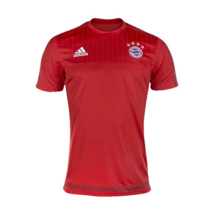 Jerseys / Soccer: Adidas Fc Bayern 15/16 Training Jersey S/s S27268 - Adidas / S / Red / 1516 Adidas Bayern Munich Clothing Jerseys |