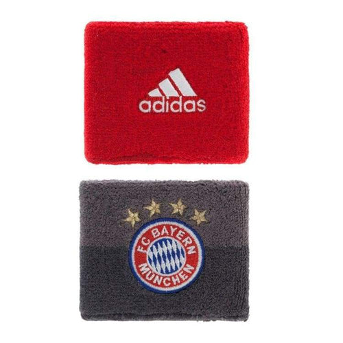 Sweat Bands: Adidas Fc Bayern 16/17 Wristbands Blk-Red S95129 - Adidas / Black/red / 1617 Accessories Adidas Bayern Munich Black/red |