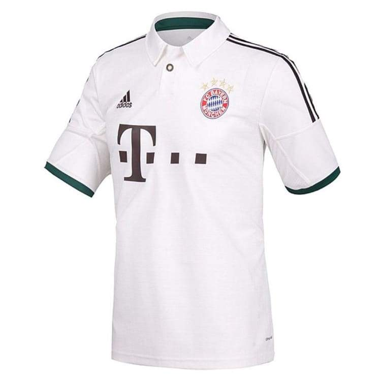 Jerseys / Soccer: Adidas Fc Bayern Munich 13/14 (A) S/s Z25686 - Adidas / S / White / 1314 Adidas Away Kit Bayern Munich Clothing |