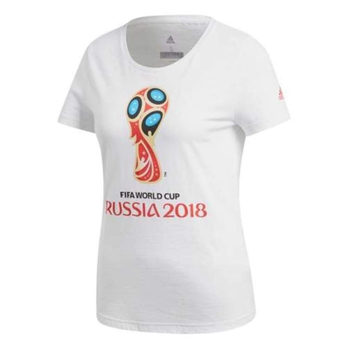 Tees / Short Sleeve: Adidas Fifa 2018 Wc Emblem Womens Tee Cw2081 - Adidas / Xs / White / 2018 2018 Fifa World Cup 2018 World Cup Adidas
