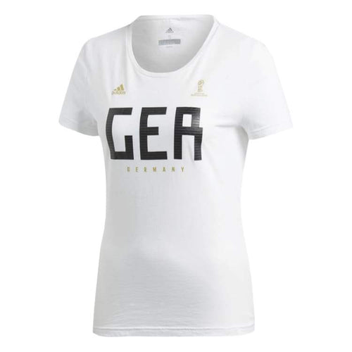 Tees / Short Sleeve: Adidas Germany Womens Tee Cw2073 - Adidas / Xs / White / 2018 2018 Fifa World Cup 2018 World Cup Adidas Clothing |