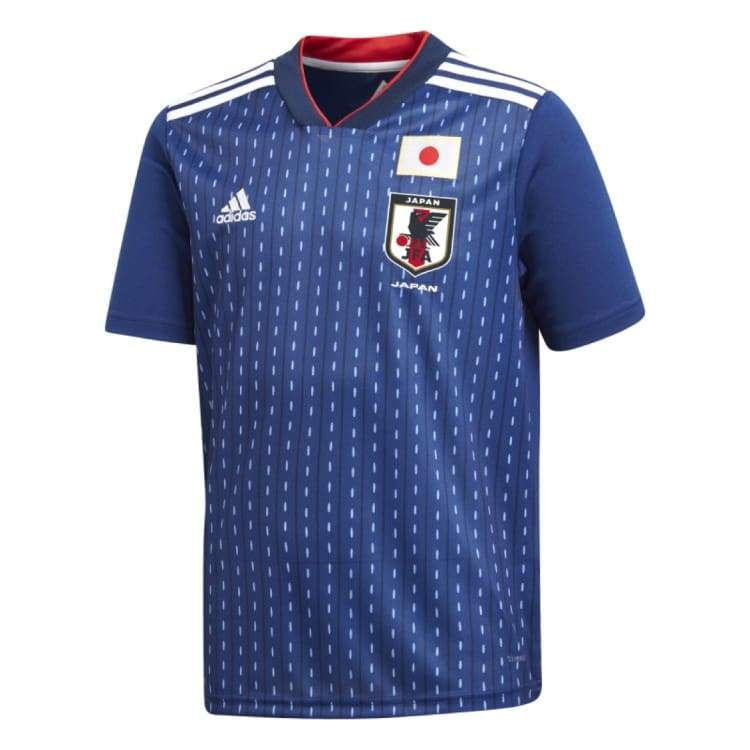 Jerseys / Soccer: Adidas Japan 2018 (H) S/s Kids Jersey Br3644 - Kids: 128 / Adidas / Blue / 2018 2018 Fifa World Cup 2018 World Cup Adidas