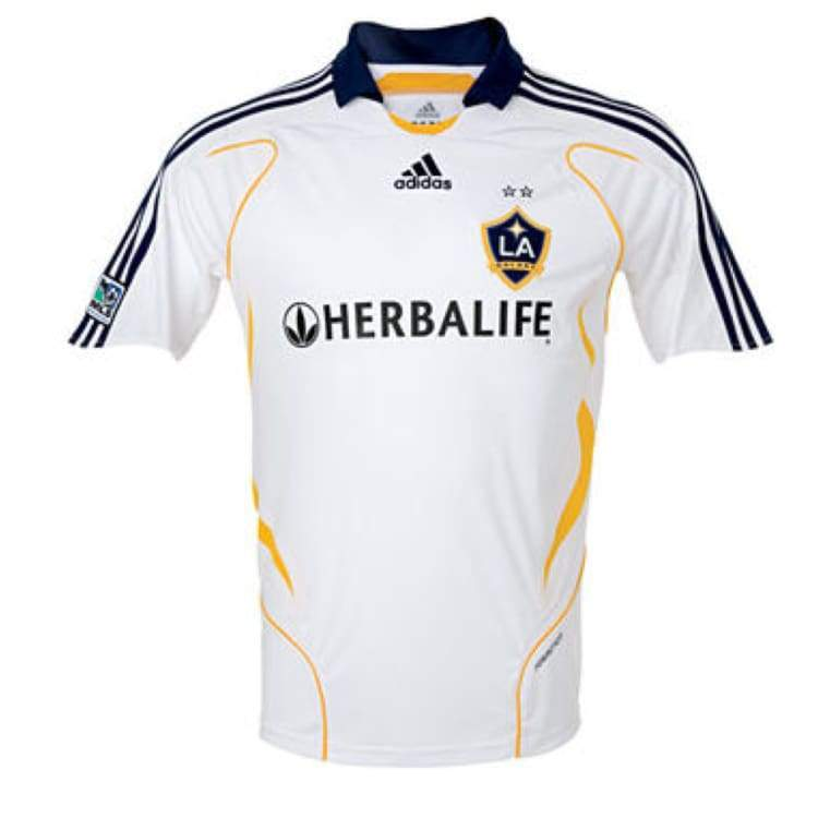 Jerseys / Soccer: Adidas La Galaxy 07/08 (H) S/s With #23 Beckham - Adidas / Xl / White / 0708 Adidas Clothing Home Kit Jerseys |