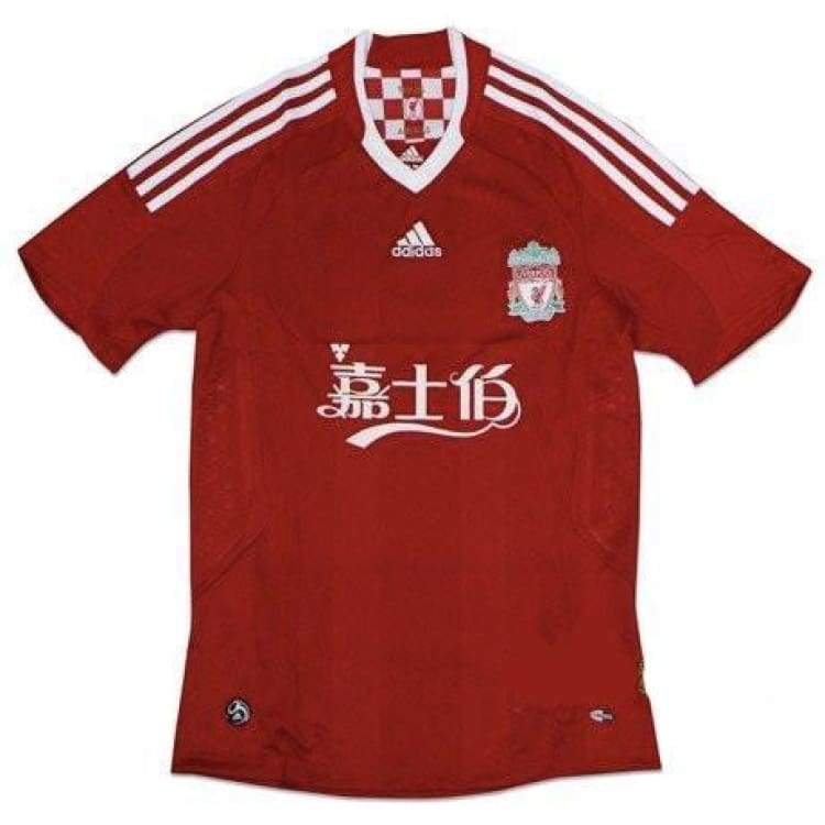 Jerseys / Soccer: Adidas Liverpool 08/10 (H) Logo: S/s Jersey - Adidas / L / Red / 0810 Adidas Clothing Home Kit Jerseys |