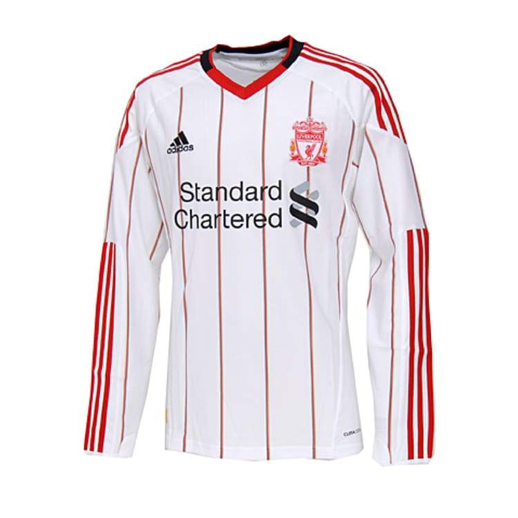Jerseys / Soccer: Adidas Liverpool 10/11 (A) L/s P96682 - Adidas / L / White / 1011 Adidas Away Kit Clothing Jerseys |