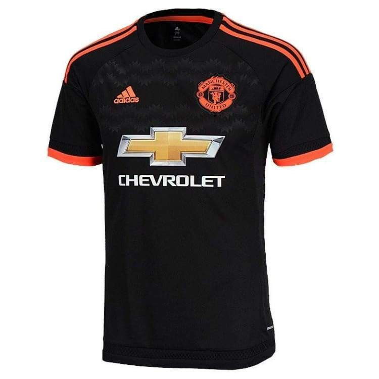 Jerseys / Soccer: Adidas Manchester United 15/16 (3Rd) S/s Ac1445 - M / Black / Adidas / 1516 Adidas Black Clothing Jerseys |