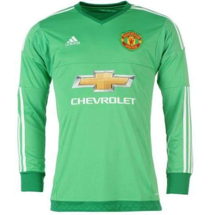 huge discount 468c9 542ec Adidas Manchester United 15/16 (H) GK L/S Jerey AC1458 With EPL Name Print  #1 De Gea