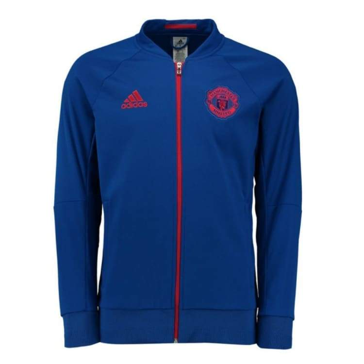 Jackets / Track: Adidas Manchester United 16/17 (A) Anth Jacket Blu S95558 - Adidas / Xs / Blue / 1617 Adidas Away Kit Blue Clothing |