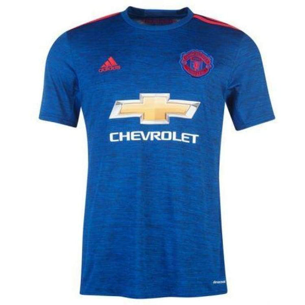 13bbc4163 Adidas Manchester United 16 17 (A) S S Jersey Youth BLU AI6701