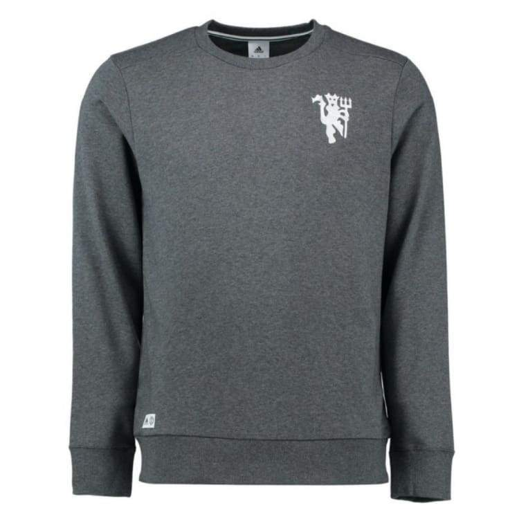 Hoodies & Sweaters: Adidas Manchester United 16/17 Bst Cr Sweater Ap1797 - S / Grey / Adidas / 1617 Adidas Clothing Grey Hoodies & Sweaters