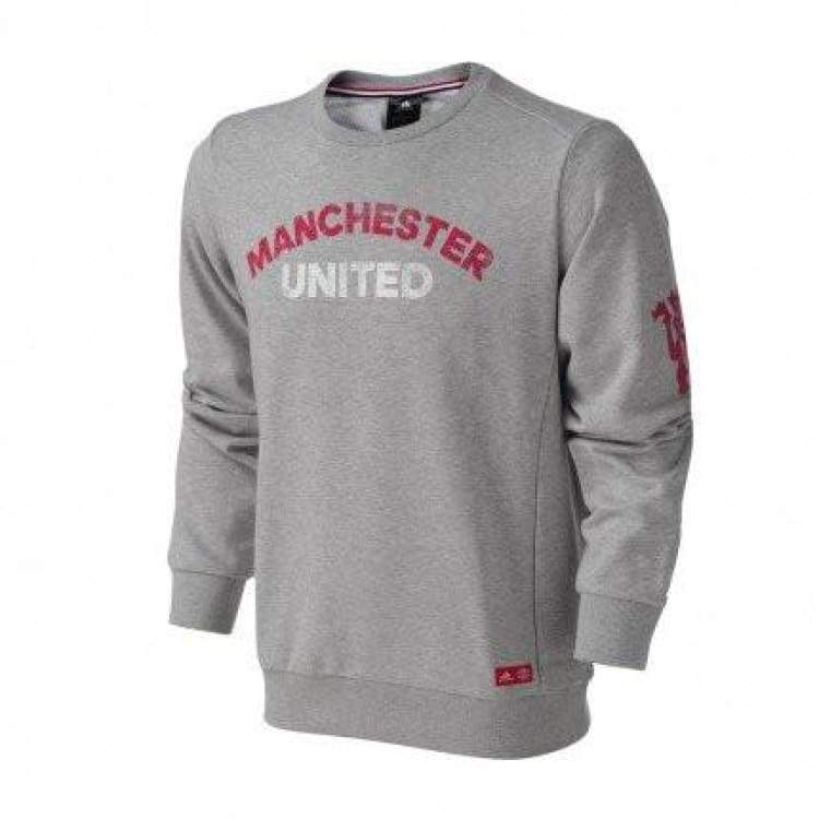Hoodies & Sweaters: Adidas Manchester United 16/17 Graphic Sweater Ay2800 - Adidas / Xs / Grey / 1617 Adidas Clothing Grey Hoodies &