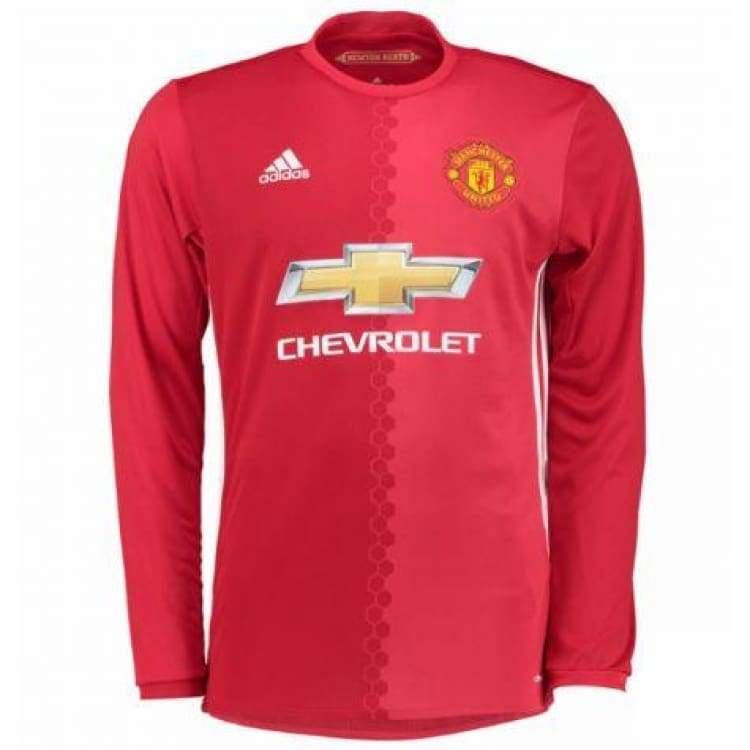 Adidas Manchester United 16 17 H L S Junior Jersey Ai6715