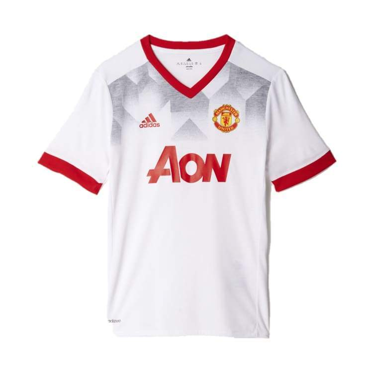 Jerseys / Soccer: Adidas Manchester United 16/17 (H) Pre-Match Jersey Youth Bp9174 - Adidas / Kids: 152 / White / 1617 Adidas Boys Clothing